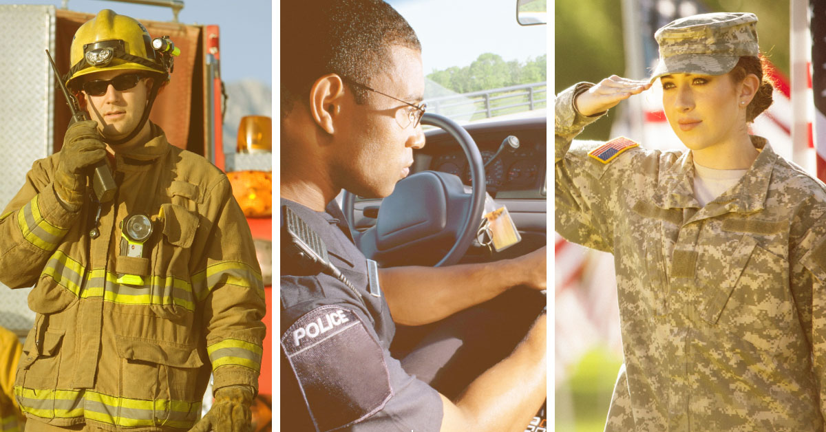 Fire, Police, Military Members