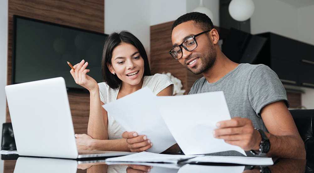 couple looking at home improvement financing options
